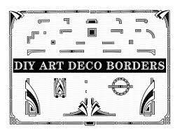 printable art deco borders diy art deco borders art deco design elements art deco clip