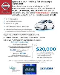 nissan leaf lease bay area ucsf 20k discount on 2017 nissan leaf nissan of san francisco