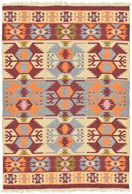Modern Kilim Rugs Cream 6 U0027 6 X 9 U0027 3 Kilim Dhurrie Rug Modern Rugs Esalerugs