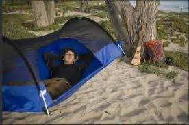 camping in the air blue ridge hammock