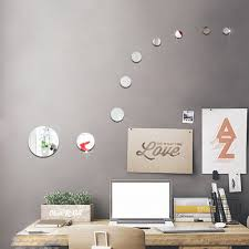online get cheap circle wall mirror set aliexpress com alibaba diy round circles wall mirror acrylic mirrored decorative wall stickers 3d mural home decoration wall art