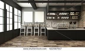 cafe shop restaurant design minimalist counter stock illustration
