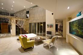 interior modern elegant red and brown nuance of the beautiful