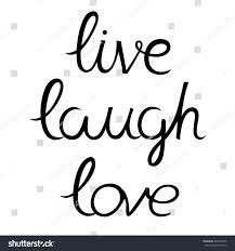 live laugh love calligraphy hand drawn stock vector 446647678