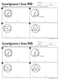 Area Of Sector Worksheet Free Area Of Shaded Regions Of Circles Worksheet Geometry
