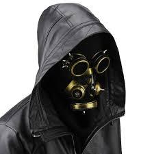 Halloween Costume Gas Mask Aliexpress Buy Punk Style Gothic Mask Gold Men Women