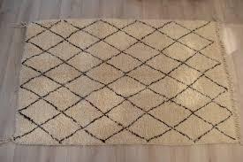 moroccan beni ourain rug wool diamond pattern chocolate oranjade