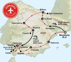 Spain Train Map by Spain In Depth Bunnik Tours