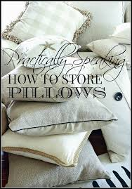 Pillow Store Practically Speaking Storing Napkins