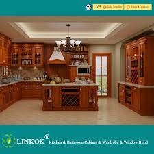 modern kitchen design featuring solid pine wood kitchen cabinets