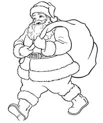 santa claus canvas prints coloring pages elf reindeer boot artist
