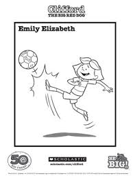 clifford coloring pages emily elizabeth coloring sheet parents scholastic com
