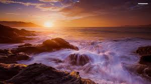 rocky shore wallpapers waves splashing on rocky shore walldevil
