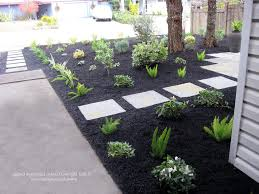 san francisco black pea gravel landscape midcentury with