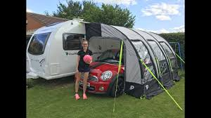 Bailey Awnings Set Up U0026 Review Of The Prima 390 Deluxe Pump Up Air Awning Youtube