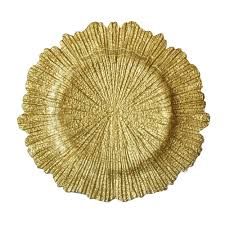 the companies 13 reef gold glass charger plate