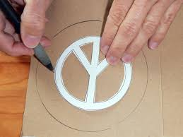 how to make peace sign ornaments how tos diy