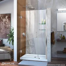 Bathroom Shower Doors Home Depot by Dreamline Unidoor 41 To 42 In X 72 In Frameless Hinged Pivot