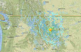 Earthquake Map Usgs Montana Earthquake How To Read The Usgs Earthquake Map Inverse