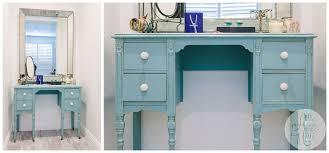 Turquoise Vanity Table Vintage Turquoise Vanity