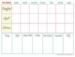 printable meal planner free free printable menu planners
