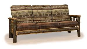 Rustic Hickory And Oak - Hickory leather sofa