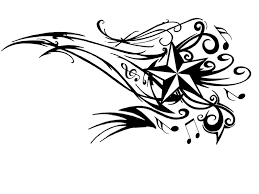 tribal music notes and nautical star tattoo designs real photo
