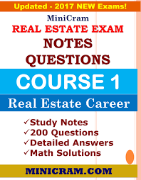 real estate exam course 1 notes u0026 questions minicram notes