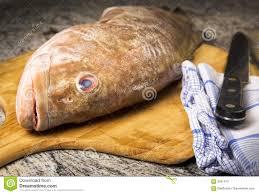 cuisiner le merou mérou dans la cuisine image stock image du poissons chef 3041413