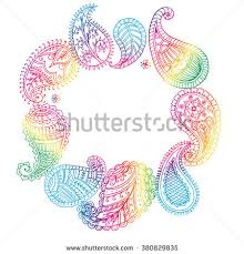 indian paisley ornaments vector background floral stock vector