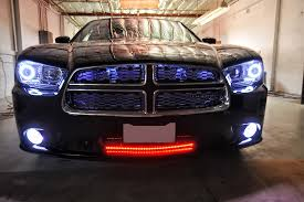 dodge charger car accessories 2012 dodge charger multi color colorshift halo kit headlights mr