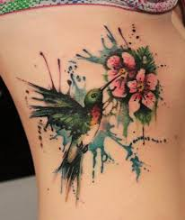 37 best hummingbird and flower tattoos images on pinterest