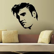 elvis presley large bedroom wall mural art sticker stencil decal see larger image