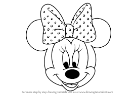 learn draw minnie mouse face mickey mouse clubhouse