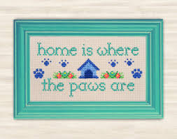 buy 2 get 1 free paws cross stitch pattern pdf home decor dog