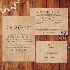 rustic wedding invitations wood background wedding invitations