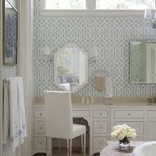 soft aqua imperial trellis wallpaper design ideas