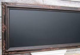 Large Decorative Chalkboard Black Framed Blackboard Oil Rubbed Bronze Black Magnetic