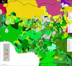 Map Of Nigeria Africa Nigeria U0026 Cameroun Carte Linguistique