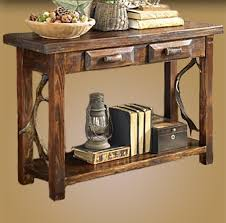 Sofa Table With Drawers Rustic Sofa Table Rustic Console Table Antler Sofa Table