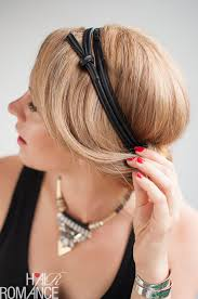 headband roll how to do a chic rolled updo hair