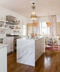 white marble kitchen island design for elegant kitchen ideas with
