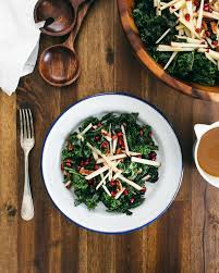 massaged kale salad with apple and pomegranate a cooks