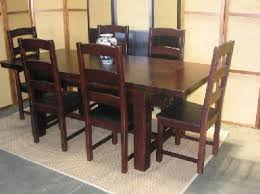 Rubberwood Dining Set Walnut - Rubberwood kitchen table