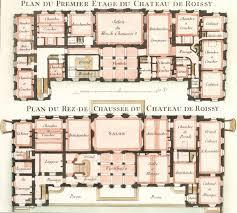 chateau floor plans cahier 3 plate 10 plan du premier etage du chateau de roissy