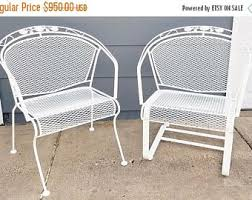 Wrought Iron Mesh Patio Furniture by Vintage Wrought Iron Patio Furniture Etsy