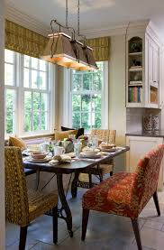 bright breakfast nook bench in kitchen traditional with breakfast