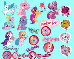 my pony wrapping paper custom order digital paper muffin clipart party kids