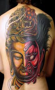 good and evil tattoo in 3d fillah grunge