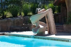 Backyard Pool With Slide Inground Pool Slides For Small Yards Good Quality Highly Rated